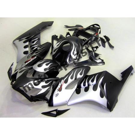 Комплект пластика Honda CBR1000RR 2004-2005 Черный матовый с серебристым огнем.
