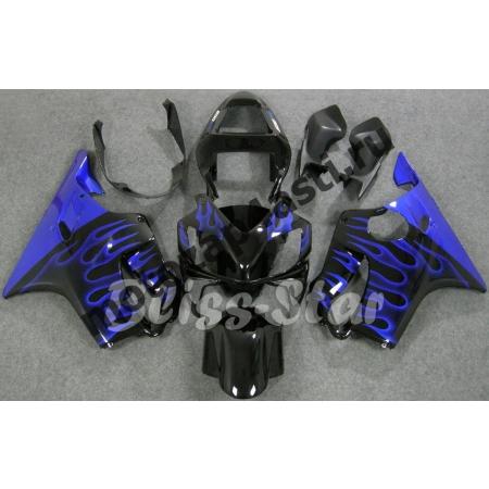 Комплект пластика для мотоцикла Honda CBR600 F4i 01-07 Черный гл.+Синий Огонь.