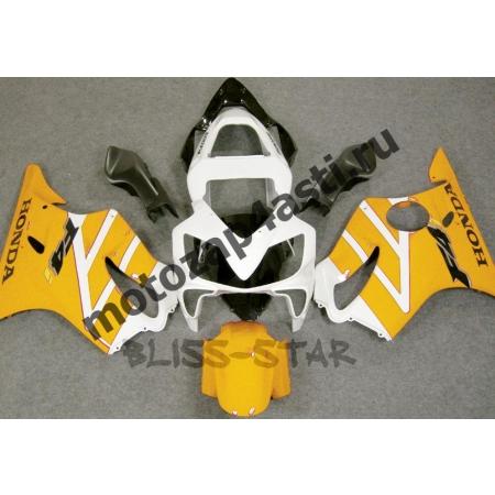 Комплект пластика для мотоцикла Honda CBR600 F4i 01-07 Бело-Желтый