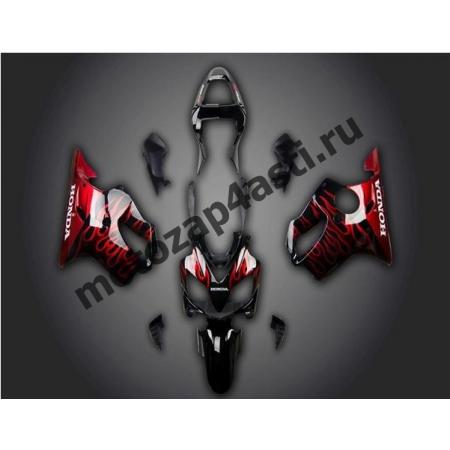 Комплект мотопластика Honda CBR600 F4i 01-07 Черный гл. с огнем