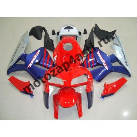 Комплект Мотопластик Honda CBR600RR 05-06 Штатный Красно-Сине-Серый