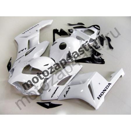Комплект пластика Honda CBR1000RR 2004-2005 белый-черные наклейки