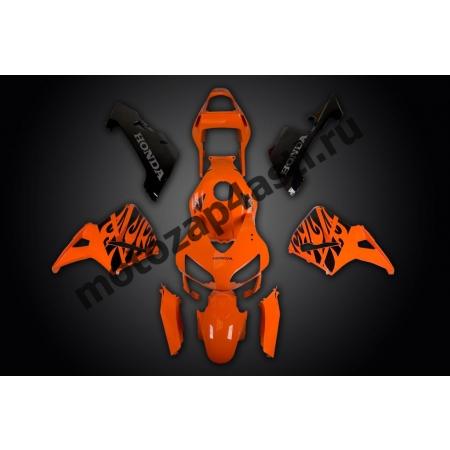 Комплект Мотопластика Honda CBR600RR 03-04 Оранжево-Черный