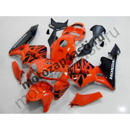 Комплект Мотопластика Honda CBR600RR 05-06 Оранжево-черный-1.