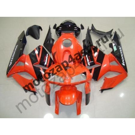 Комплект Мотопластика Honda CBR600RR 05-06 Оранжево-Черный-2.