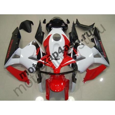 Комплект Мотопластика Honda CBR600RR 05-06 Бело-красно-черный.