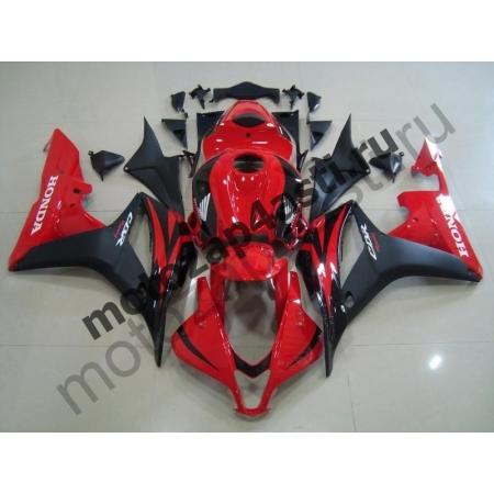 Комплект мотопластика Honda CBR600RR 07-08 Штатный Красно-Черный.