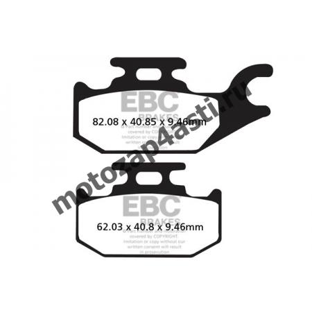 Колодки тормозные ST056 (Nissin 2p-291 EBC FA413/307)