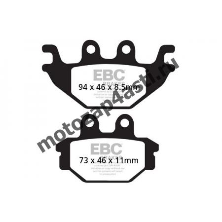 Колодки тормозные ST099 (EBC FA377)