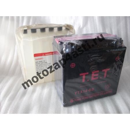Аккумулятор TET YTX14-BS